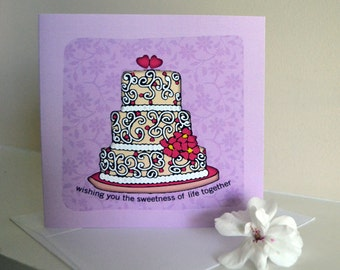 Wedding Cake, Wedding, Flowers, Love, Romance, Cake