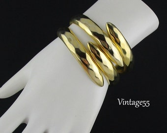 Bracelet Clamper Gold tone Bypass Small