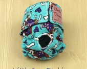 XS Dog Diapers Dressed Chihuahua Print on Blue
