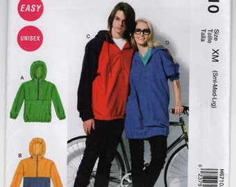 McCalls M6710 Sewing Pattern - M6710 Unisex Jacket Pattern - Out of Print - Uncut, FF