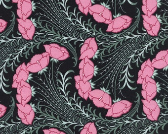 Art Nouveau Revive peony reminiscent of William Morris Arts and Crafts movement