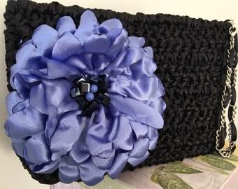 Modern Clutch / Flower Clutch /Large Clutch / Romantic Clutch / Elegant Clutch / Fashion Clutch - Made to Order