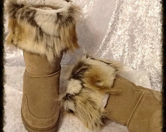 Brandy Fox Faux Fur Boot Cuffs