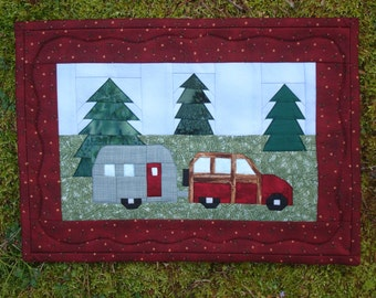 Camper Trailer Quilted Wallhanging