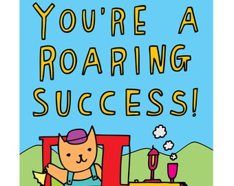 Congratulations Card - You're A Roaring Success!