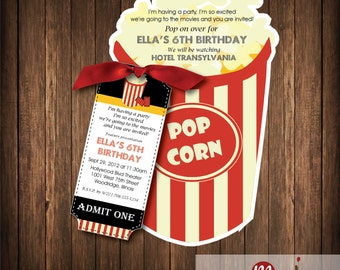 Invitation: Popcorn Bucket w/ticket
