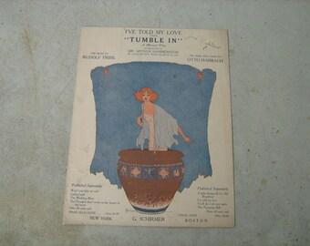 1919  vintage sheet music (  Tumble in   )
