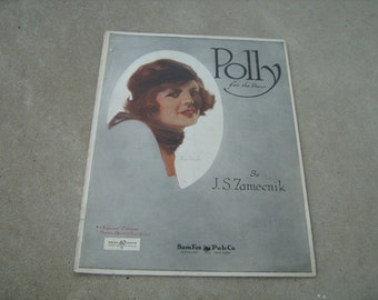 1926  vintage sheet music (  POLLY  )  J.S. Zamecnik