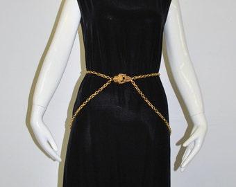 Geoffrey Beene/ Beenebag 1930s Inspired Velvet Dress