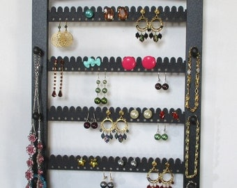 Earring Holder, Jewelry Storage, Jewelry Holder with SHELF, Jewelry Display, , Earring Storage, Necklace Holder, Necklace Display