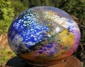 Handblown glass garden art, made in Oregon