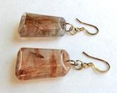 Vintage Rutilated Quartz Dangle Earrings