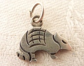 Vintage Simplistic Mexican Sterling Armadillo Charm