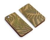 Leather iPhone 6 case, iPhone 6s Case, iPhone 6s Plus Case - Woodland Fern (Exclusive Range)