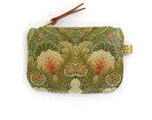 Leather Purse - Floral Embroidery