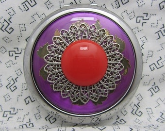 Compact Mirror Comes With Protective Pouch All Ocassion Gift With A Cherry On Top