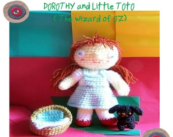 Instant Download Amigurumi Crochet PDF Pattern - Dorothy ( The wonderful wizard of oz )
