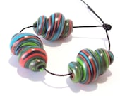 NOW ON SALE Handmade Polymer Clay Beads