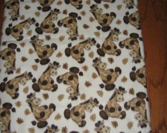 Double fleece blanket Giraffes soft thick warm