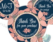 Thank You Stickers, Personalized Etsy Shop Labels,  Wedding Labels, Glossy