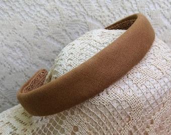 tan headband linen