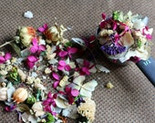 Wild flower confetti-Natural & some dyed-Assorted potpourri -1 cup of flower girl basket petals-Candle supplies-Soap supplies