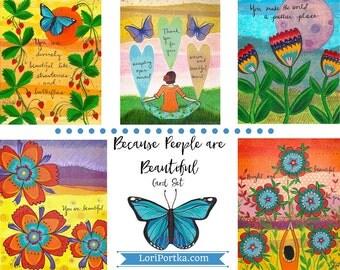 Card Set : Because People are Beautiful #1-CS