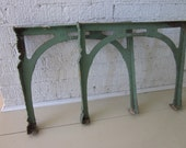 RESERVED Set of two vintage industrial cast iron sink legs