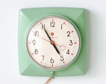Vintage General Electric Plastic Jadite Jadeite Wall Clock
