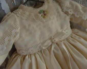 Vintage Handmade Cotton Doll Dress