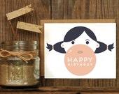 Bubble Gum Birthday Letterpress Greeting Card
