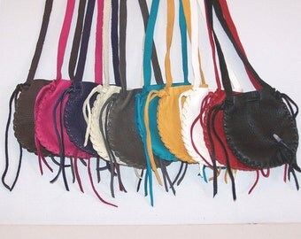 SPRING SPECIAL.. XL All Leather Neck Pouch..Wholesale Lot of 12