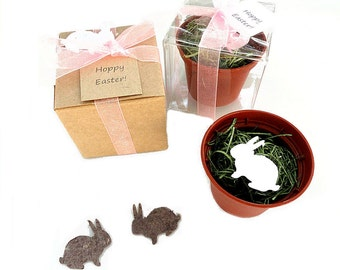 Plantable Easter Bunny Party Favors - Seed Paper Easter Bunny Rabbit Grows Flowers - Kids Easter Party Favor for Boy & Girl by Nature Favors