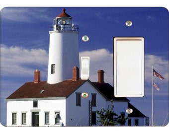 Lighthouse Nautical Toggle and Decora Rocker Double Switch Plate Cover