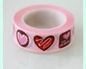 Washi Tape Love Cookies Fun Tape Valentine's Day Party Crafts Cards Gifts