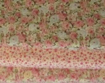 Roses and Chocolates Half Yard Fabric Bundle - Moda - Sentimental Studios