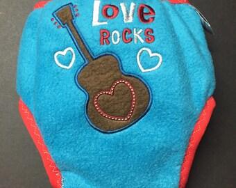 MamaBear Waterproof Fleece Training Pants, One Size fits Most - Love Rocks