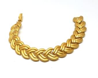 Golden Braided Design Vintage Bracelet