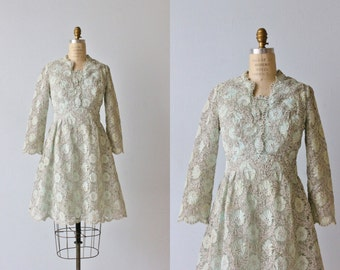 Silver Lame Lace 1960s Dress / Silver Lace / Twinkling Mist