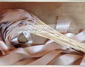 Instead of Rice Jumbo Ribbon Streamer Bamboo Sticks..PACK OF 50...You choose the Ribbon Color..shown in champagne