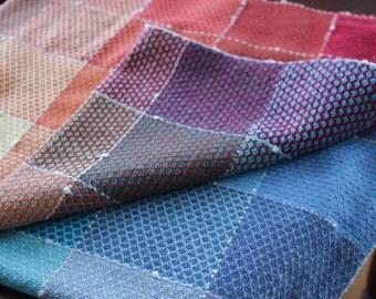 Handwoven Rainbow Baby Blanket, Crib blanket, Receiving Blanket, Table Cloth