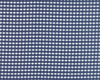 BLACK FRIDAY SALE - Gooseberry - 1 yard - Scallop in Dark Blue - 5015 17 - by Lella Boutique for Moda Fabrics