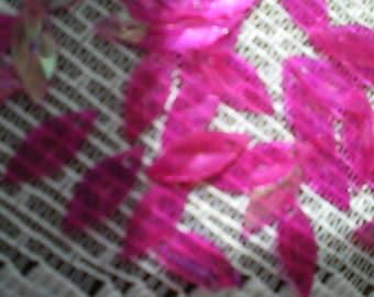 Vintage Raspberry Pink Diamond Rice Navette Shaped Sequins 1 Strand