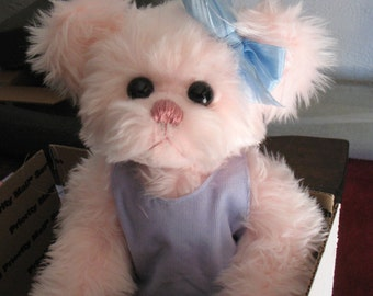 Pinkie Sweetums pink teddy bear limited edition #6 of 10 fully jointed