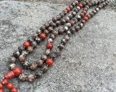 Turritella Agate 108 Bead Mala Necklace