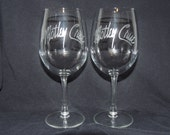 Set Of 2 Motley Crue Wine Glasses