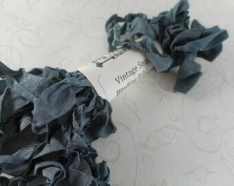 Vintage Seam Binding Ribbon Bundle 5 yds Carbon Grey