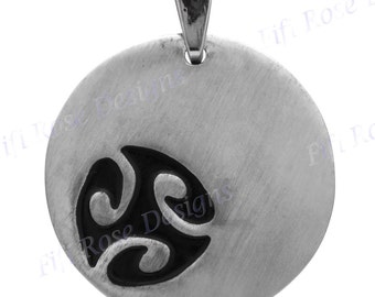 """1 9/16"""" Abstract Bali Handmade Heavy 925 Sterling Silver Pendant"""