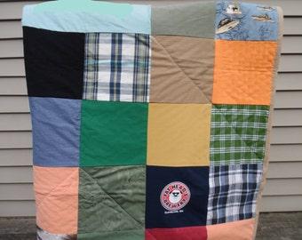 Memory Quilt - Custom Memory Quilt - Custom Quilt - Patchwork Memory Quilt - Memory Blanket - Custom Blanket - Shirt Quilt -  Shirt Blanket