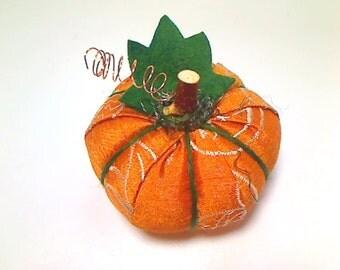 Size 2 | Rusty Orange | Fabric Pumpkin | Fall Decor | Table Decor | Thanksgiving | Stuffed Pumpkin | Table Decor | Handmade | #15